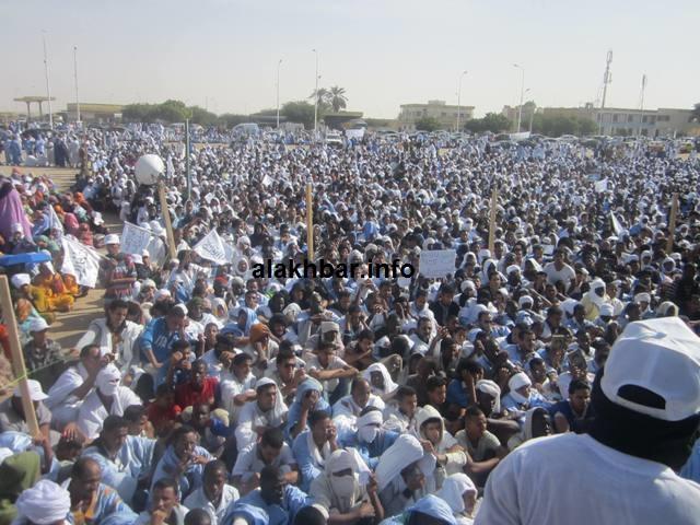 Cheikh Ould Mkhaitir protest crowd alakhbar