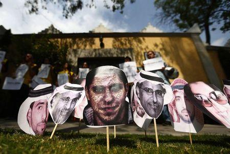 A recent demonstration for justice at the Saudi Arabian embassy in Mexico City