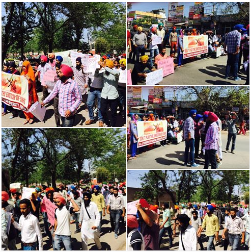 Punjabi University students protest upcoming movie on Guru Nanak