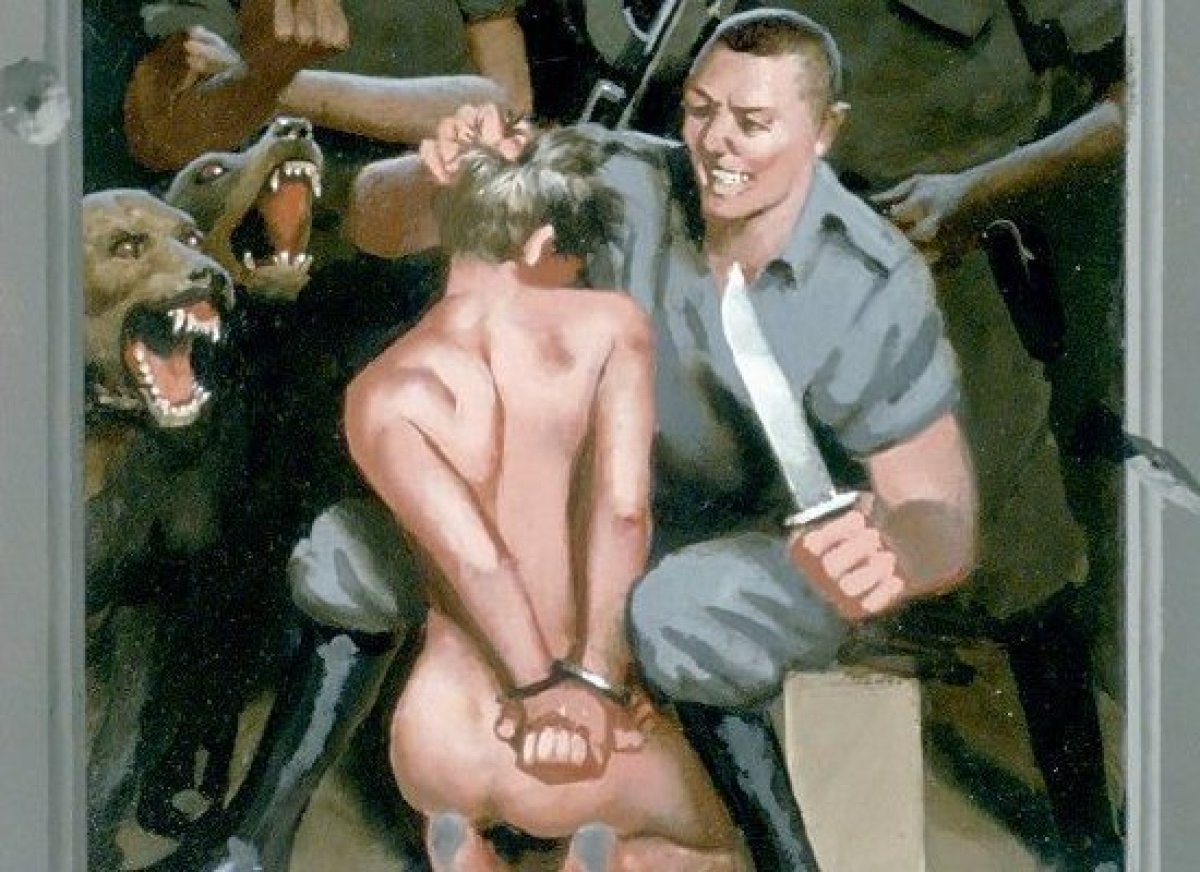 A painting featured in Passion of a Gay Christ