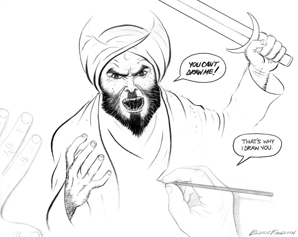 Draw the prophet cartoon winning entry