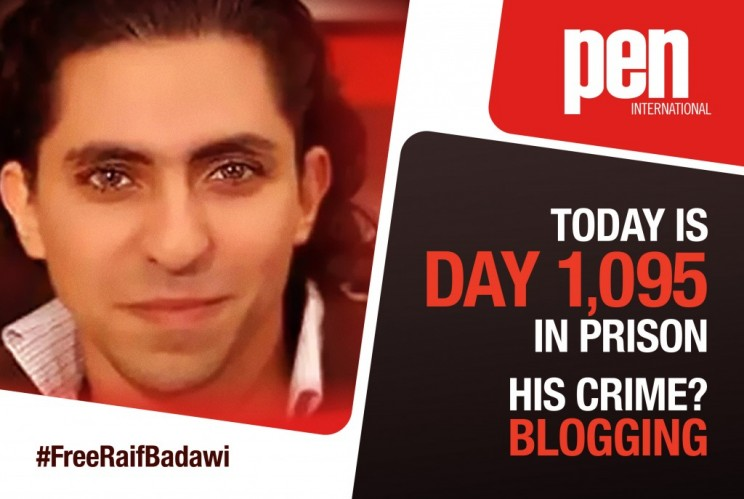 17 June marked three years since the initial arrest of liberal blogger Raif Badawi in Saudi Arabia