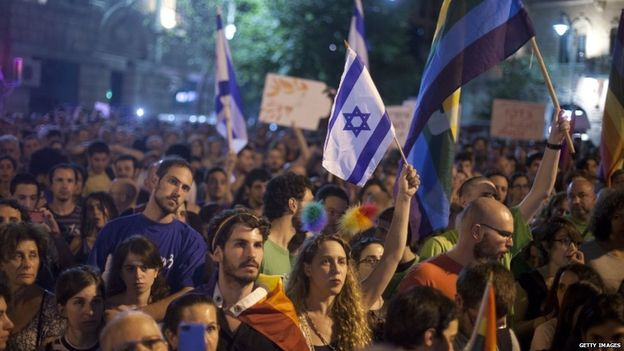 After the attack, Thursday, thousands attended an anti-homophobia rally on Saturday in Jerusalem