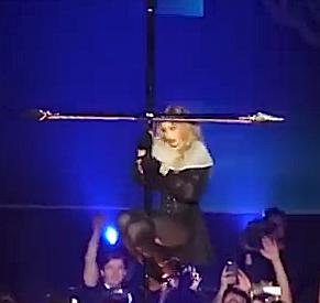 Madonna cross-dancing
